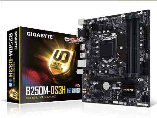 Tarjeta madre gigabyte ga-b250m-ds3h socket 1151 ddr4