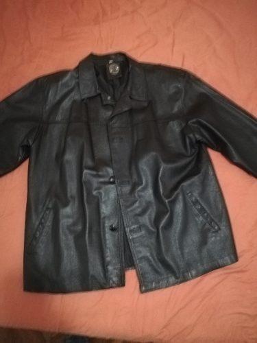 Chaqueta de cuero talla l color negro