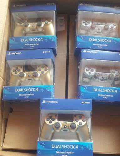 Control dualshock4 ps4 nuevo sellado original dorado cristal