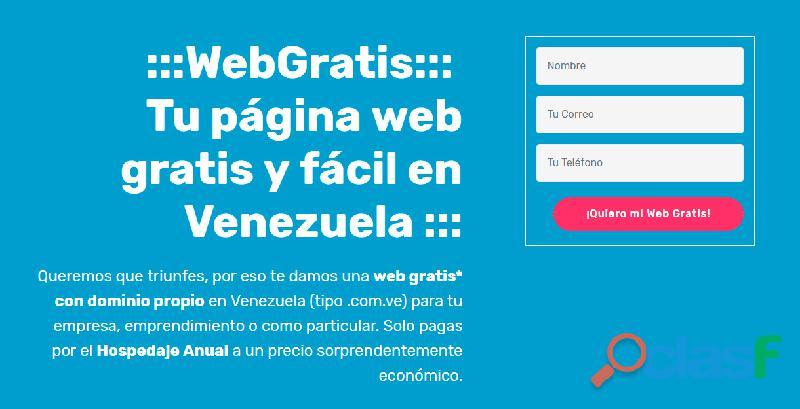 Paginas web modernas gratis en venezuela