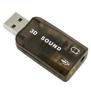 Adaptador tarjeta sonido audio usb 3d 5.1 virtual pc laptop