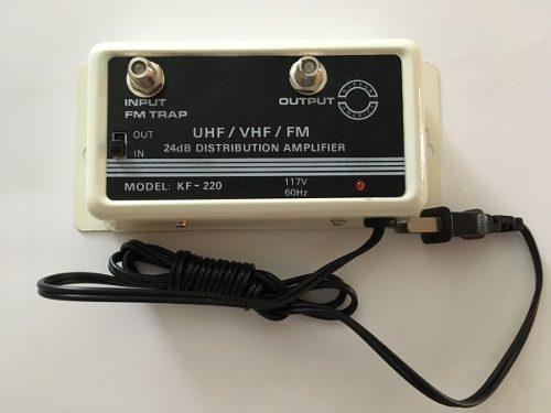 Amplificador de distribución uhf/vhf/fm 24 db nippon