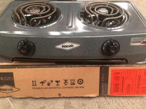 Cocina electrica 2 hornillas marca haceb original