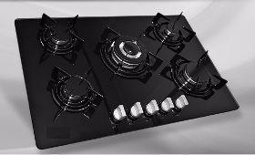 Tope de cocina 5 hornillas vitroceramica 77cm a gas de lujo