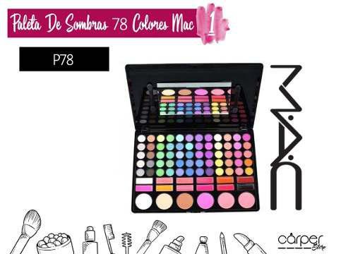 Paleta de sombras 78 colores mac