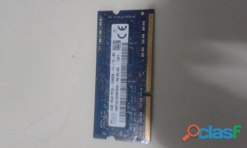 Usado, MEMORIA RAM 4GB DDR3 1RX8 PC3L 12800S (50.000 BS.S) segunda mano  Venezuela (Todas las ciudades)