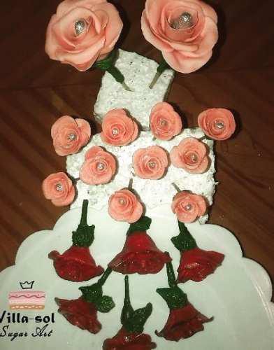 Flores comestibles fondant, decorar tortas letras cupcakes