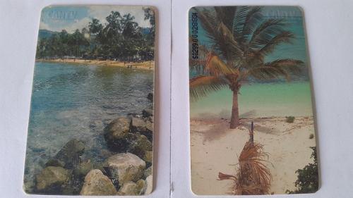 Tarjetas cantv serie playas venezolanas