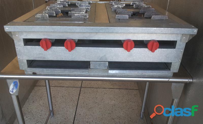 Tope de cocina 4 hornillas cocina industrial de mesa mstar
