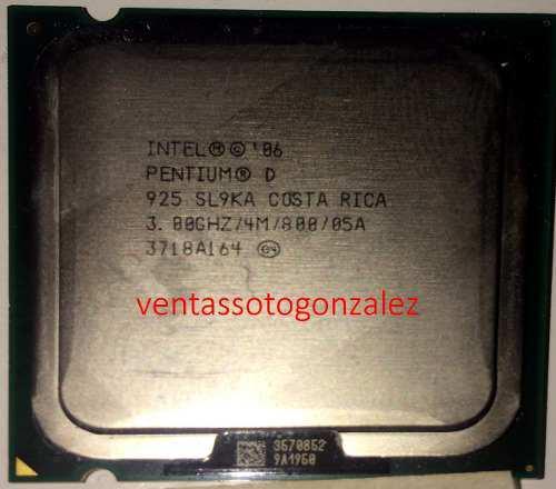 Procesador pentium d 925 3.0ghz bus 800 socket 775