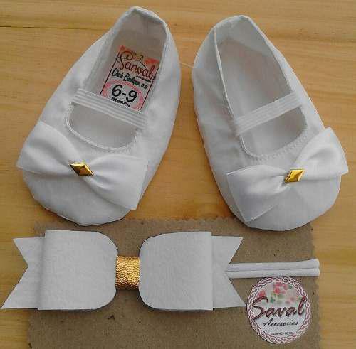 Zapatos para bautizo (cintillo adicional)
