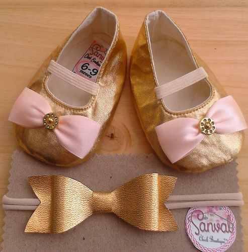 Zapatos para bebe (cintillo adicional)