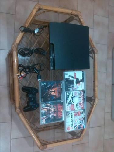 Playstation 3 160gb, 5 juegos fisicos.