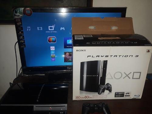 Playstation 3 de 80gb en su caja