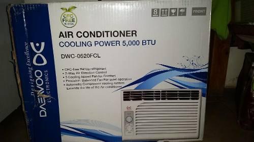 Aire acondicionado de ventana daewoo de 5 mil btu, nuevo