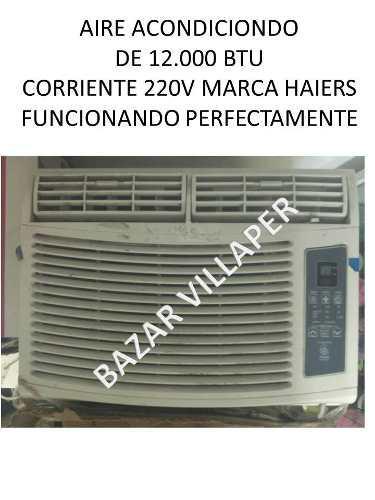 Aire acondionado de ventana 12.000btu corriente 220v