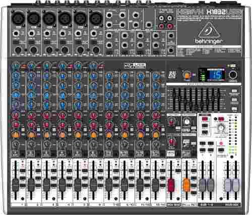 Consola de audio behringer xenyx 1832usb 18 canales efectos
