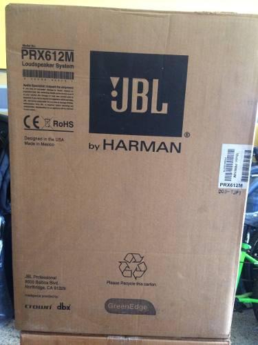 Cornetas amplificadas jbl prx 612m nuevas en su caja