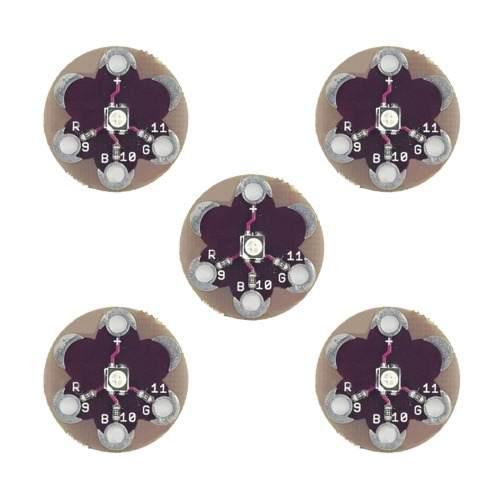 5 pcs ldtr lb0003 modulo luz led rgb para arduino purpura