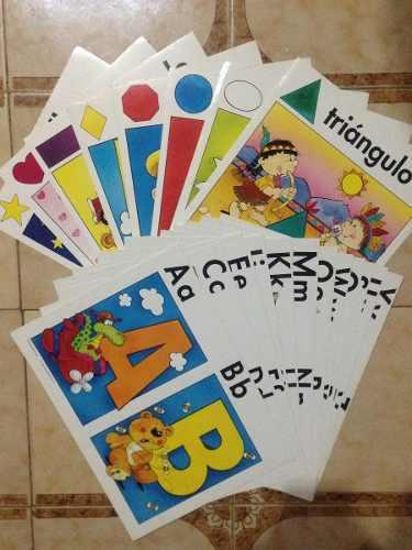 Juego didáctico de abecedario y figuras geométricas
