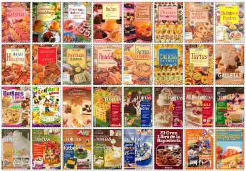Colección i de 57 revistas de repostería y pastelería en