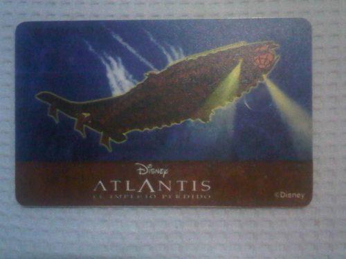 Tarjetas coleccionable atlantis