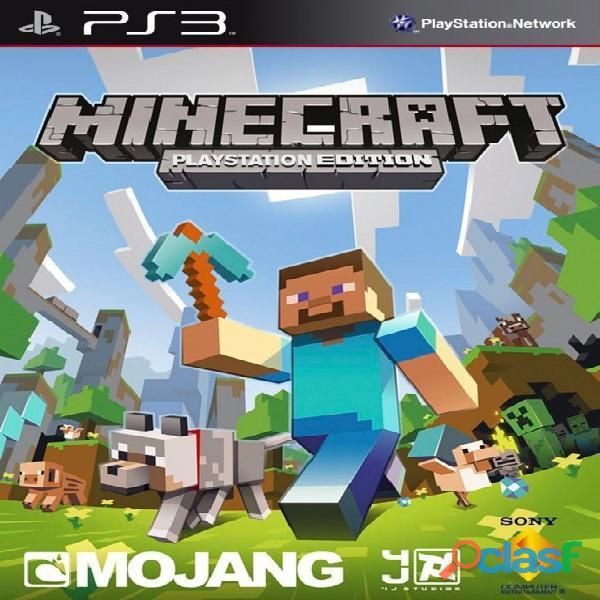 Minecraft ps3 digital instalacion en tienda