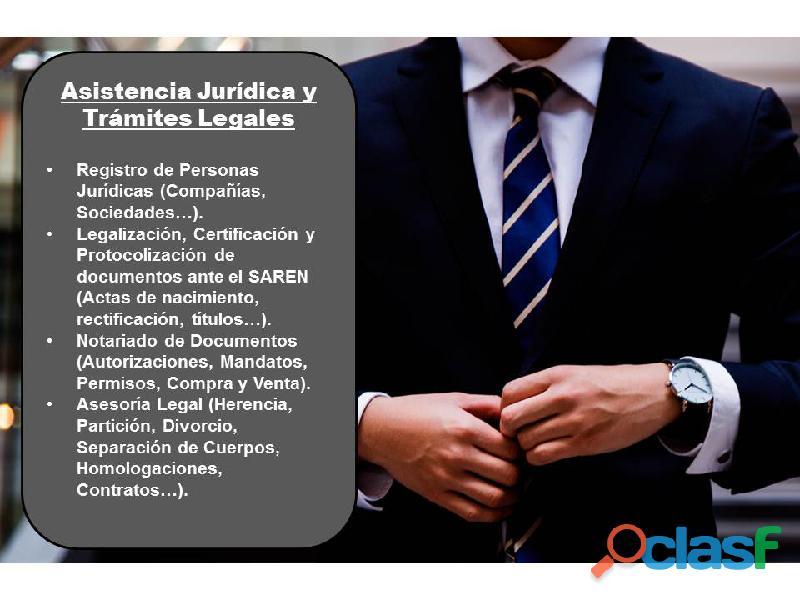 Asistencia jurídica y trámites legales