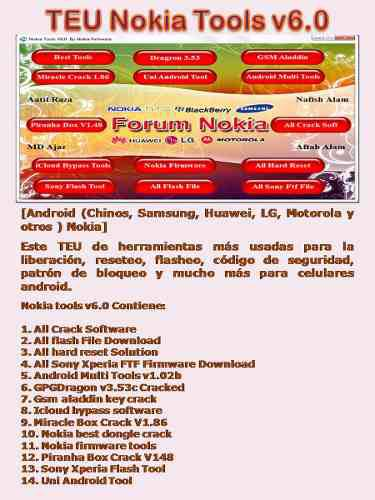 Libera desb teléfonos celulares modem pack 50 programas tsa