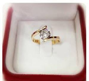 Baño oro dorado 18k para anillos compromiso mod. roma