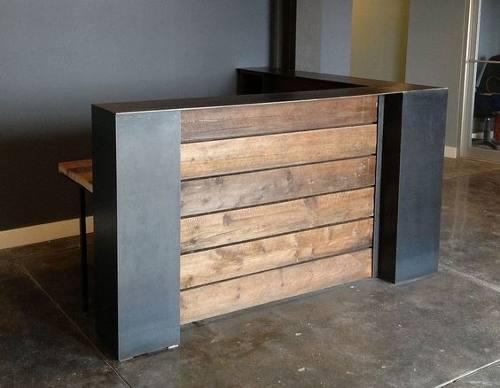Mueble caja mostrador exhibidor pino diseño y fabricación