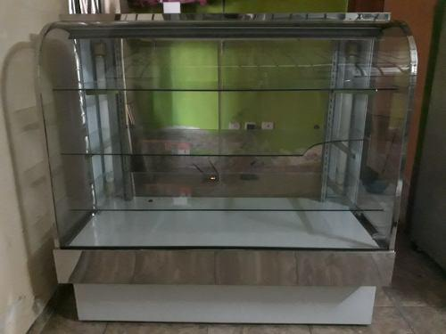 Vitrina vidrio curvo exhibidora