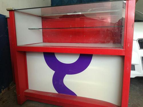 Vitrinas de metal y vidrio para exhibición mostrador venta