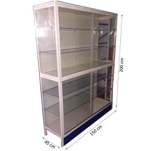 Vitrinas estante exhibidoras fondo lamina largo 150 alto 200