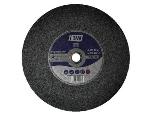 Discos de corte de tronzadora 14 x 1/8 x 1 marca 3w