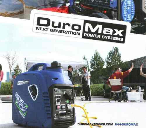 Planta eléctrica duromax silenciosa 2000 watts gas/