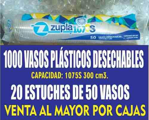 Vasos plasticos desechables 300cm3. bebidas frias o caliente
