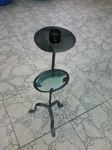 Candelabro de hierro forjado usado tamaño grande