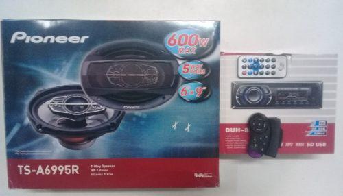 Combo reproductor pioneer y cornetas pioneer 6x9 600w 5 vias