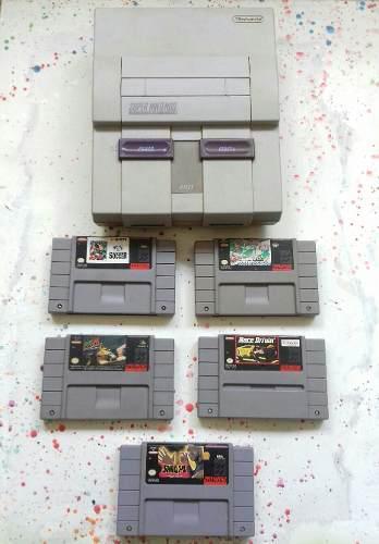 Consola y juegos de super nintendo