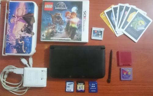 Nintendo 3ds xl + juegos + r4 + chip + accesorios