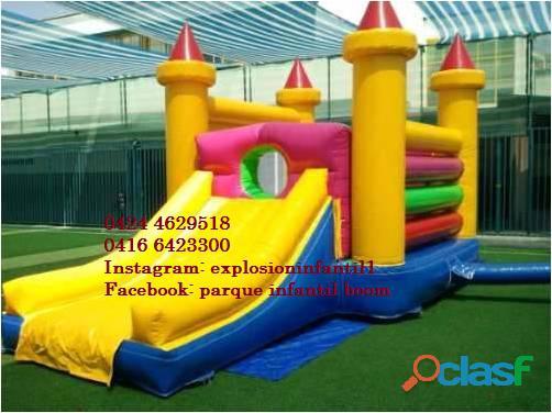 Piscina d pelotas, recreación, castillo inflable, tobogan, parque infantil alquiler