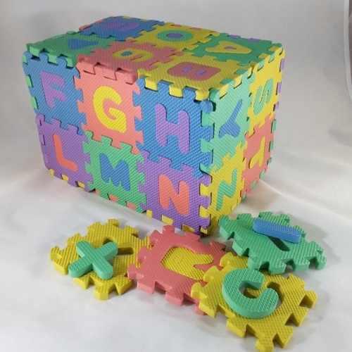 Alfombra piso bebe goma foami 36 piezas 9x9 cm