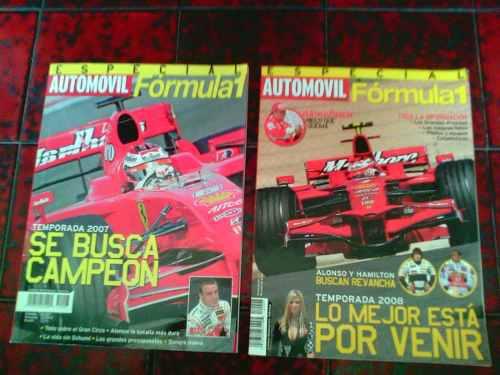 Revistas especial formula 1 2007 y 2008 / editorial televisa