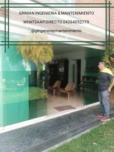 Cristaleria en general instalación mantenientos y