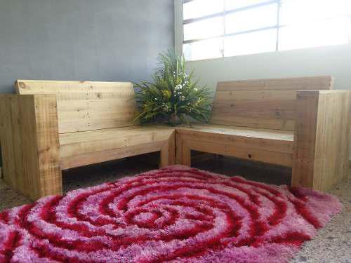 Muebles paletas recicladas sofá butacas madera de pino