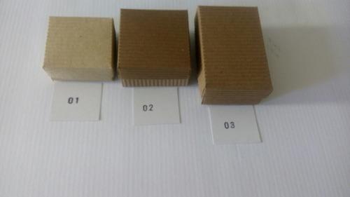 Bisuteria. cajas carton corrugado natural / 12 unidades