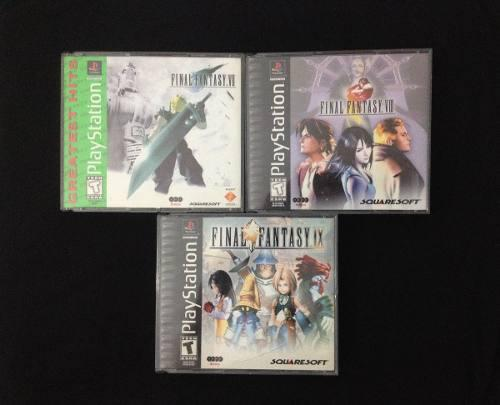 Final fantasy 7 / 8 / 9 originales playstation one lea descr
