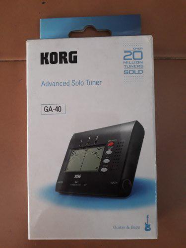 Afinador de guitarra y bajo marca korg ga-40