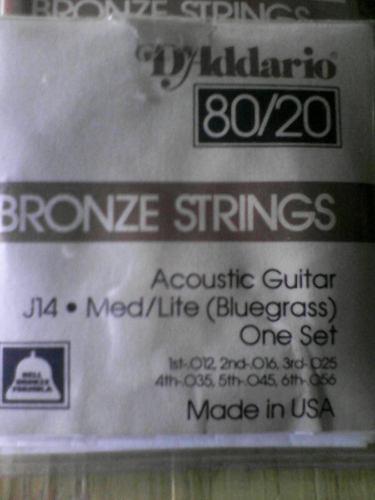Cuerdas para guitarra acustica daddario